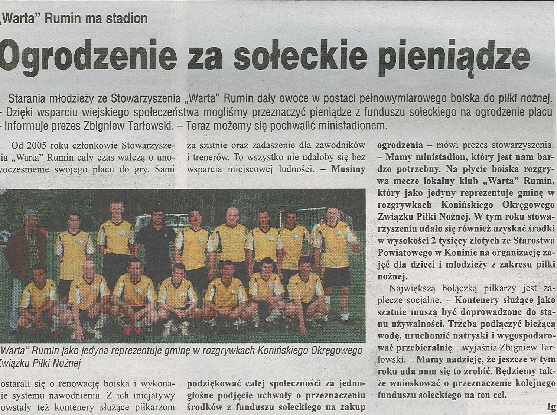 Przegląd Koniński - 31.05.2011 - Warta Rumin na stadion