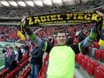 Żagiel Piecki na meczu Polska - Ukraina