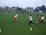 Pierwszy wiosenny trening żaczków na boisku
