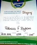 ŚKS Naprzód Lipiny - Polonia II Bytom