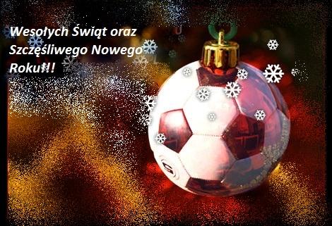 Znalezione obrazy dla zapytania życzenia świąteczne piłkarskie