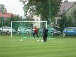 Trening na nowym boisku w Chlebni