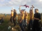 Część Kibiców na meczu wyjazdowym z Błyskiem Kuźniczysko
